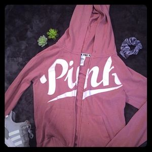 Well loved Dusty Rose Pink Hoodie Sz XS